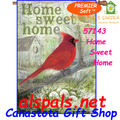 57143 Home Sweet Home (Cardinal) : PremierSoft House Flag (57143)