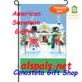 American Snowman Gothic : PremierSoft Garden Flag (56145)