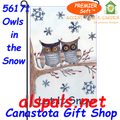56171 Owls in the Snow : PremierSoft Garden Flag (56171)