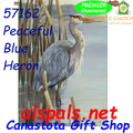 57162 Peaceful Blue Heron : Illuminated House Flag (57162)