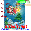 57124 Happy Christmas Angel : Illuminated House Flag (57124)