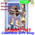 Woodland Stockings (Owls & Raccoons) :  Illuminated House Flag