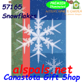 Snowflakes :  Illuminated House Flag