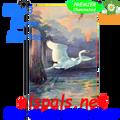 Heron  Sunrise :  Garden Flag by Premier Illuminated