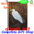 Egret :  Garden Flag by Premier Illuminated