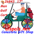 """26843  Golf Cart 17"""" : Vehicle Spinners (26843)"""