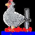 24916 Black & White Chicken : Petite Wind Spinner (24916)