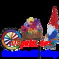 Gnome & Wheel Barrow : Vehicle Spinners (25971)