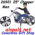 "26921 Chopper (25"") Spinner: Motorcycle Wind Spinner (26921)"
