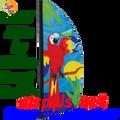 26855  Parrot Paradise 8.5ft : Prestige Feather Banner (23855)
