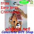 57193   Early Birds Chickadee : Illuminated House Flag (57193)