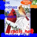 57196 Cardinal & Hemlock : Premier Soft House Flag (57196)