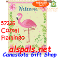 Welcome Coastal Flamingo  :  Premier SoftTM House Flag