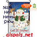 56198  Let It Snow ( Snowman ) : PremierSoft Garden Flag (56198)