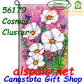 56179  Cosmos Cluster : Garden Flag by Premier Illuminated (56179)