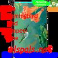 56188  Hummingbird & Trumpet Vine : Garden Flag by Premier Illuminated (56188)
