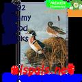 56192  Steamy Wood Ducks : Garden Flag by Premier Illuminated (56192)