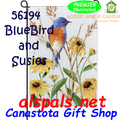 56194  Bluebird & Susies : Garden Flag by Premier Illuminated (56194)