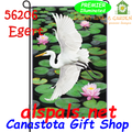 89506  Egret Elegance : Garden Flag by Premier Illuminated (56206)