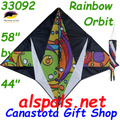 33092  Rainbow Orbit : Delta Gyro Kites by Premier (33092) comes with Spin Sock