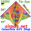 33093  Tie-Dye : Delta Gyro Kites by Premier (33093) with spin sock