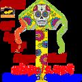 44092  Sugar Skull : Large Easy Flyer Kites by Premier (44092) kite