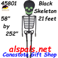 "45801 Black Skeleton 21"" : Dancing & Zombie Kites by Premier (45801"