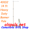 49102  Heavy Duty Banner Pole - 14 ft (49102)