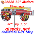 "Firetruck Modern 32"" : Vehicle Wind Spinner (26826)"