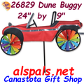 "24"" Dune Buggy Red , Vehicle Spinners (26829)"