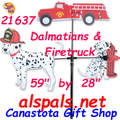 "Firetruck & Dalmatians 59"", Carousel Wind Spinners (21637)"