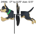 24946  Dog (Black & Tan Chihuahua} : Petite Spinner (24946)