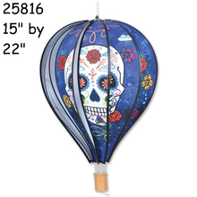 "25816 Day of the Dead (Blue) : 22"" Hot Air Balloons (25816)"
