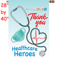 57323  Healthcare Heroes : PremierSoft(TM) House Flag (57323)