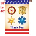 57325  First Responders : PremierSoft(TM) House Flag (57325)