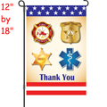 56325  First Responders : PremierSoft(TM) Garden Flag (56325)