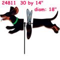 24811 Black & Tan Dachshund: Deluxe Petite Spinner