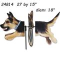 24814 German Shepherd: Deluxe Petite Spinner