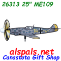 """26313 ME 109 25"""" : Airplane Sspinner (26313)"""