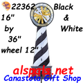 22362  Black & White Lighthouse Spinner (22362)
