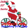 "26869  Santa 20"" : Bicycle Spinners (26869)"