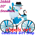 "26868  Snowman 20"" : Bicycle Spinners (26868)"