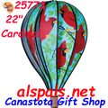"25773 Cardinals 22"" Hot Air Balloons (25773) Wind Spinner"