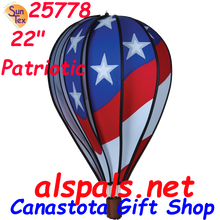 "25778 Patriotic 22"" Hot Air Balloons #25778"