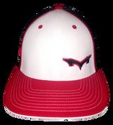 Monsta Puff Logo Hat -Wht/Red/Blk-Blk/Red side Logo