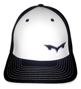 Monsta Puff Logo Hat -Blk/Wht-Blk/Gry  side Logo