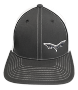 Monsta Puff Logo Hat -Graphite/Wht-Gry/Wht  side Logo