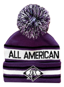 A3 Pom Beanie - Purple
