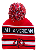 A3 Pom Beanie - Red/Black