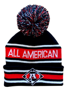 A3 Pom Beanie - Black/White/Red